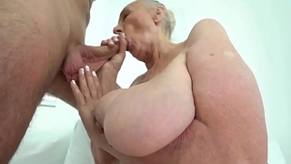 Fat grandma mouth jizzed
