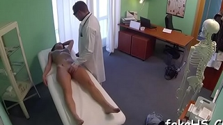 Hawt doctor cums inside fake hospital