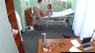 Smalltits euro nurse tastes patients cum