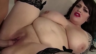 Gothic Fat Babe Plump Pussy Fucked Deep