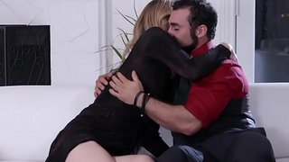 Stepmom slender shemale anal fucked by a muscular stepson