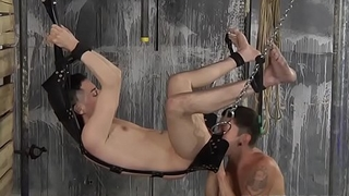 Kinky twink gets his hairy ass rimmed and drilled hard