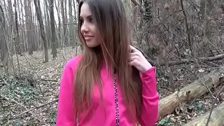 Sexy jogger fucked take the woods(Elle Rose) 02 clip-12