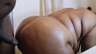 HORNY BLACK BBW EBONY MOM MILF GETS HER BIG ASS POUNDED HUGE THICK BBC CUMSHOT